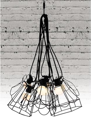 Wire Frame Tulip Lampshade - Black image 5