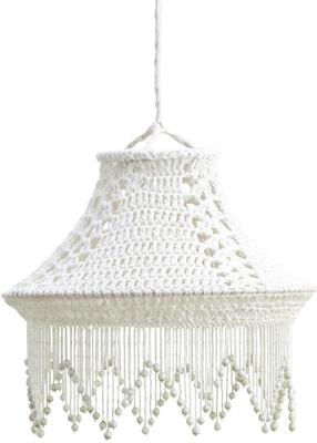 Crocheted Hand-Made Cotton Lampshade - Black or White image 3