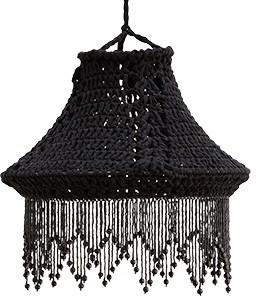 Crocheted Hand-Made Cotton Lampshade - Black or White image 5