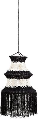 Tall Crocheted Cotton Lampshade - Black or White image 5