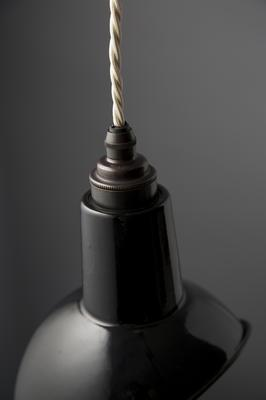 Miniature Angled Cloche Lamp Shade - Black image 3