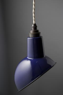 Miniature Angled Cloche Lamp Shade - Blue