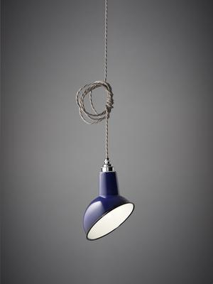 Miniature Angled Cloche Lamp Shade - Blue image 3