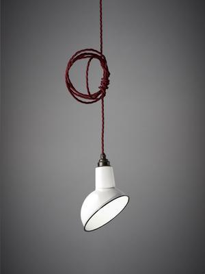 Miniature Angled Cloche Lamp Shade - White