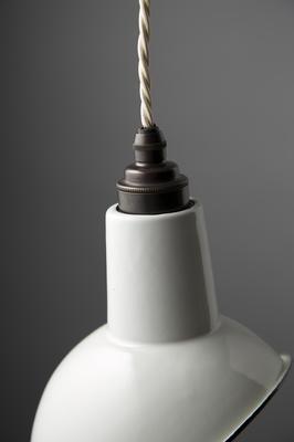Miniature Angled Cloche Lamp Shade - White image 2