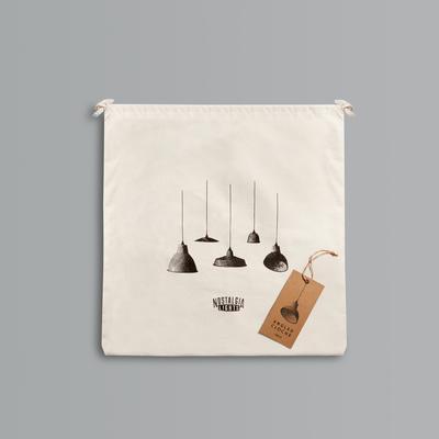 Miniature Angled Cloche Lamp Shade - White image 4