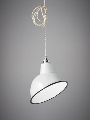 Nostalgia Lights Angled Cloche Enamel Shade