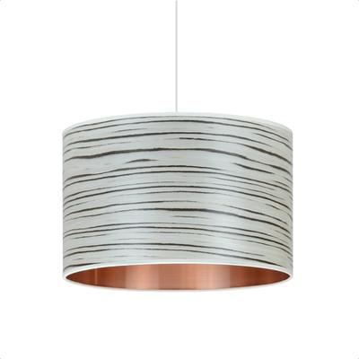 White stripe drum shade