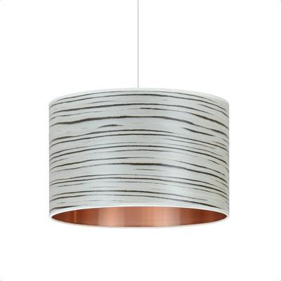White stripe drum shade