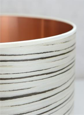 White stripe drum shade image 2