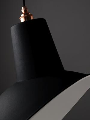 NL Reserve Industrial Angled Cloche Lamp Shade Matte Black image 2