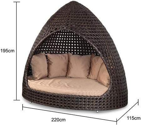 Oriel Ocean Wave Outdoor Relax Hut With Cushion image 2