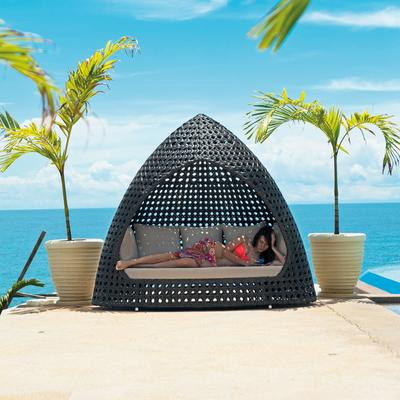 Oriel Ocean Wave Outdoor Relax Hut With Cushion image 4
