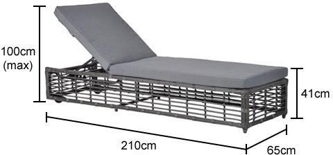 Rattan Adjustable Garden Lounger image 2