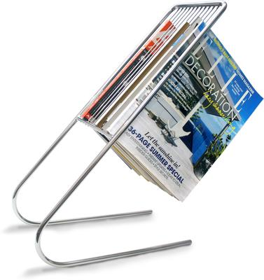 Float Magazine Rack Chrome image 2