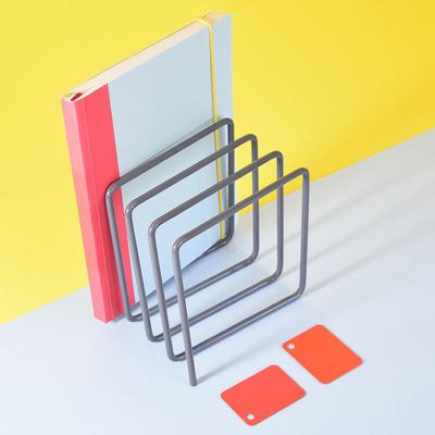 Block Magazine Rack - Grey