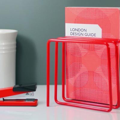 Block Magazine Rack - Red