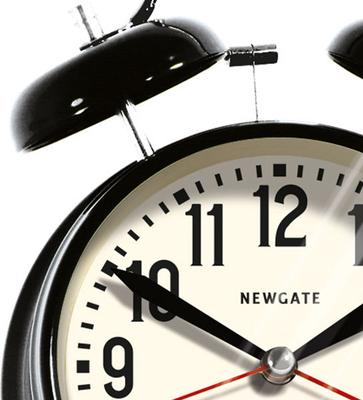 Newgate London Alarm Clock (Black) image 2