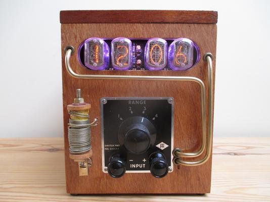 Steampunk Galvanometer Nixie Clock