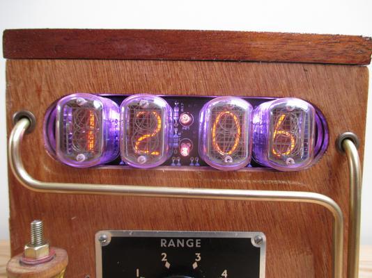 Steampunk Galvanometer Nixie Clock image 2