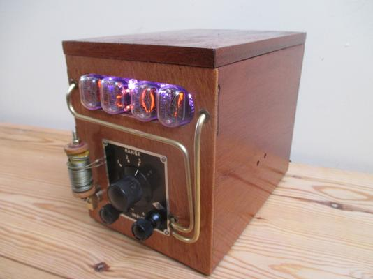 Steampunk Galvanometer Nixie Clock image 3