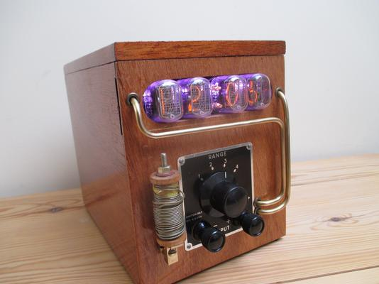 Steampunk Galvanometer Nixie Clock image 5