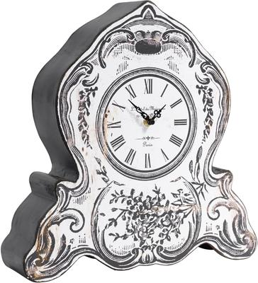 Faux Retro Mantel Clock Victorian Distressed