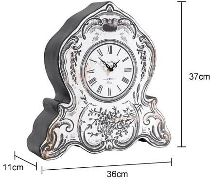 Faux Retro Mantel Clock Victorian Distressed image 2
