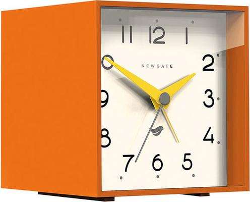 Newgate Cubic II Alarm Clock - Pumpkin Orange [D]