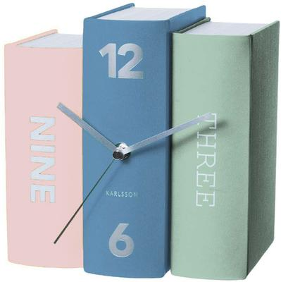 Karlsson Table Clock Book - Multicolour