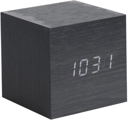 Karlsson Cube LED Alarm Clock - Black