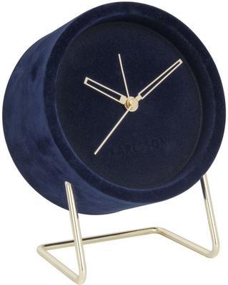 Karlsson Lush Velvet Alarm Clock - Blue