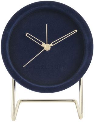 Karlsson Lush Velvet Alarm Clock - Blue image 2