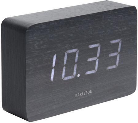 Karlsson Square LED Alarm Clock - Black