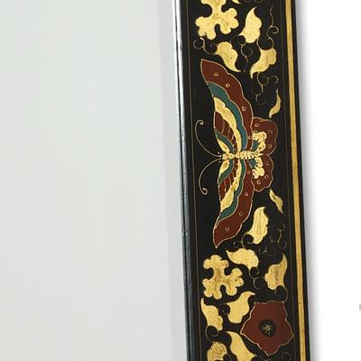 Shanxi Painted Dressing Mirror, Black Lacquer image 3