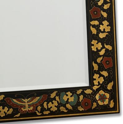 Shanxi Painted Dressing Mirror, Black Lacquer image 4