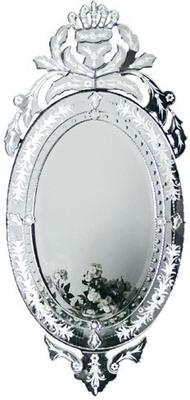 Oval Venetian Mirror Etched Frame