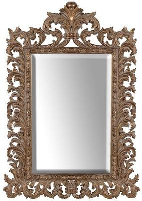 Gold Effect Carved Mirror Ethnic Design