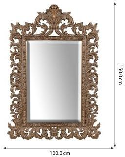Gold Effect Carved Mirror Ethnic Design image 2