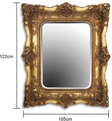 Large Ornate Gilt Mirror French Style image 2