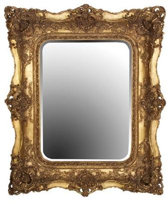 Large Ornate Gilt Mirror French Style image 3