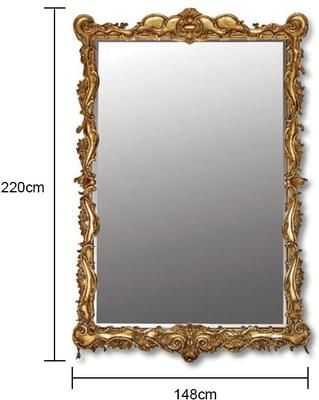 Large Scroll Edge Mirror image 2