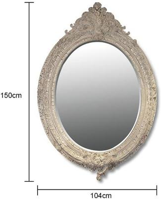 Ornate Oval Mirror image 2