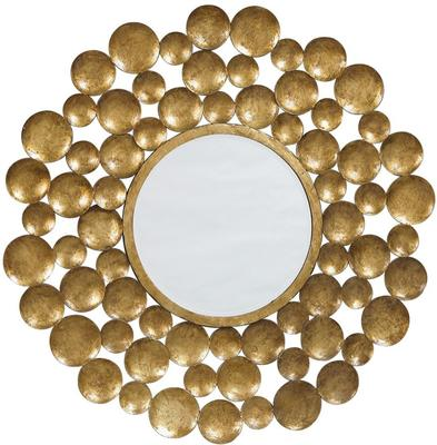Decorative Golden Mirror Distressed Disks