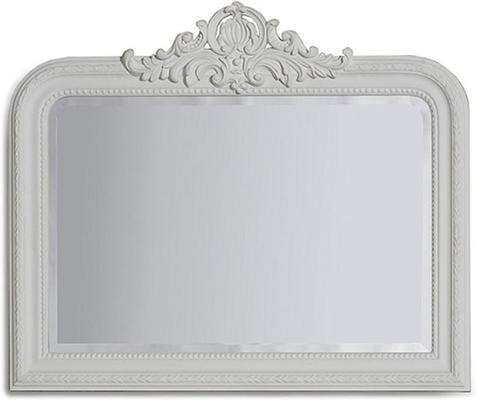 Gold Beaded Overmantle Mirror French Style image 5