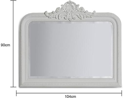 Gold Beaded Overmantle Mirror French Style image 6