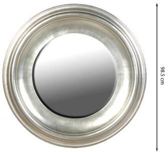 Large Round Silver Leaf Mirror image 2