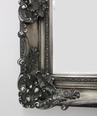 Silver Ornate Mirror