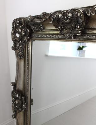 Silver Ornate Mirror image 2