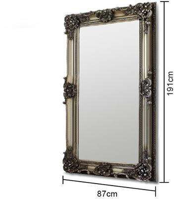 Silver Ornate Mirror image 6